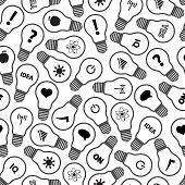 Light Bulb Symbols With Various Idea Icons Pattern Eps10