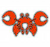Red braided cancer sticker