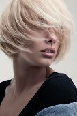 closeup portrait of a stunning blonde beauty