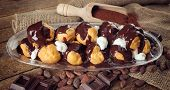 Chocolate Profitteroles With Cream