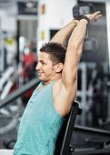 Athlete Training In A Gym