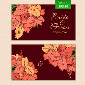 Greetings card template with flowers decor