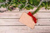 Christmas Greeting On Wood