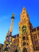 Marienplatz town hall of Munich Germany