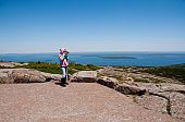Photographing The View From Acadia National Park In Maine, Usa