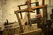 picture of farmhouse  - Romanian farmhouse interiorwith loom detail - JPG