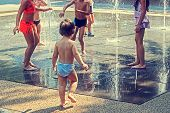 Childhood.children Playing With Water