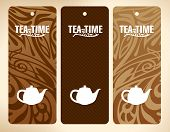 Tea Time Vector Banners