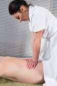 Man Having Shiatsu Massage