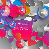 Abstract 3D Paper Infographics