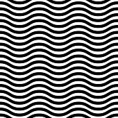 Geometric Abstract Seamless Vector Pattern. Black and White Colors
