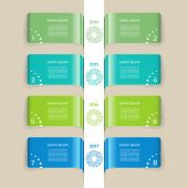 Vector chart in blue and green. Timeline design template. eps 10