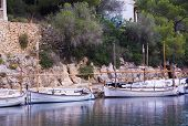 Small Llauts (boats) In Cala Figuera
