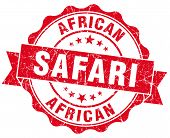African Safari Red Vintage Isolated Seal