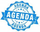 Agenda Blue Vintage Isolated Seal