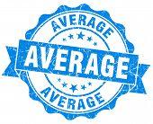 Average Blue Vintage Isolated Seal