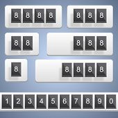 Numeric scoreboard. Vector