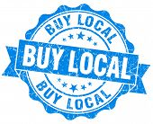Buy Local Blue Vintage Isolated Seal