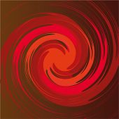 red spiral shape in vector