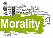 image of morals  - Morality word cloud image with hi - JPG