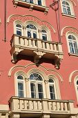 image of palladium  - windows on the facade of palladium shopping center in Prague - JPG
