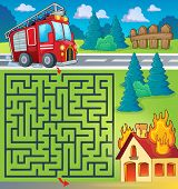 foto of fire truck  - Maze 3 with fire truck theme  - JPG