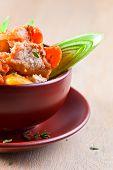 stock photo of irish  - Homemade Irish Beef Stew with Carrots and Potatoes - JPG