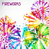 pic of salute  - Background with bright colorful fireworks and salute - JPG