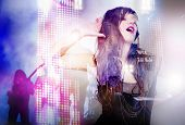 stock photo of singing  - Live music concept - JPG