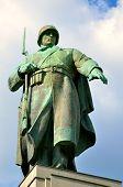 foto of cemetery  - The statue is a war memorial and military cemetery in Treptower Park in Berlin Tiergarten - JPG