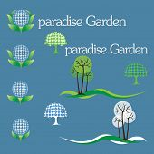 stock photo of garden eden  - Logo for the company which is engaged in plants - JPG