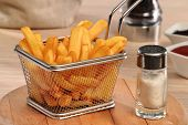 pic of dipping  - Fried potatoes chest and sauces dip - JPG