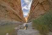 foto of bend  - Enjoying the View of Santa Elena Canyon in Big Bend National Park in Texas - JPG