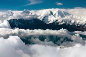image of ganesh  - Beautiful view from langtang to ganesh himal - JPG