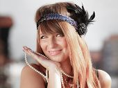 foto of headband  - Flapper girl portrait - JPG