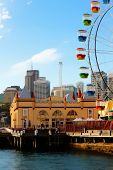 foto of ferris-wheel  - Ferris wheel on a harbor in Sydney - JPG