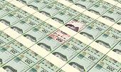 image of pesos  - Mexican pesos bills stacks background - JPG
