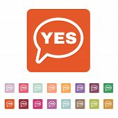 picture of yes  - The YES speech bubble icon - JPG