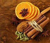 picture of cinnamon sticks  - fragrant cinnamon sticks - JPG