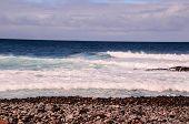 picture of atlantic ocean beach  - Dry Lava Coast Beach in the Atlantic Ocean - JPG