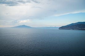 stock photo of cloudy  - Rough sea in cloudy weather - JPG