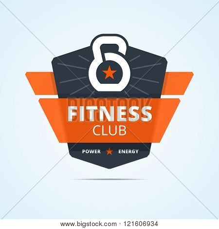 poster of Fitness club logo.