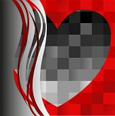 Black Heart On The Asymmetric Background