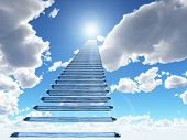 stock photo of heavens gate  - staircase to heaven - JPG
