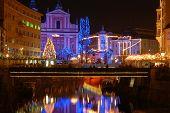 Nightscene em Liubliana - Eslovênia.