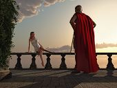antique romantic couple