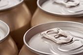 Close Up Of Cans
