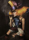 Fine Art Foto des schlechten clown