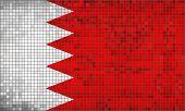 Постер, плакат: Flag Of Bahrain eps