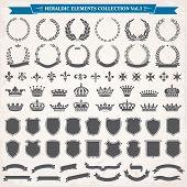Heraldic Elements Set 1 poster